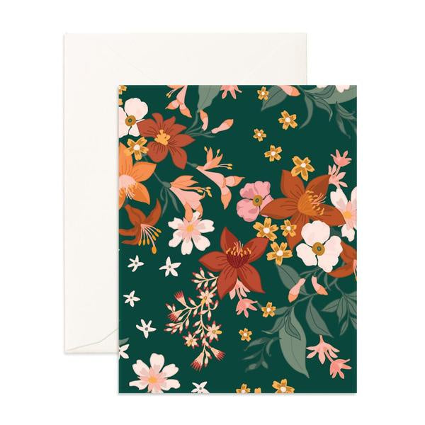 BOHEMIA FOREST FLORALS CARD