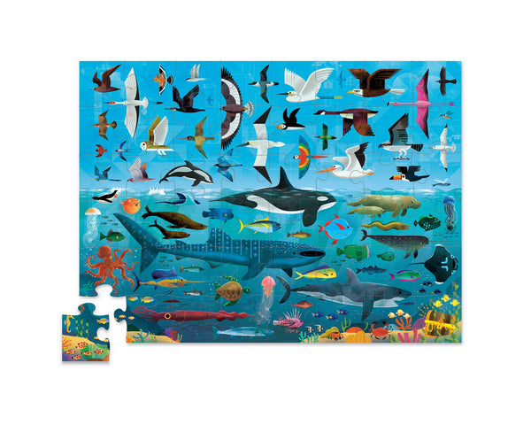 CROCODILE CREEK ABOVE & BELOW PUZZLE 48 PC - SEA AND SKY