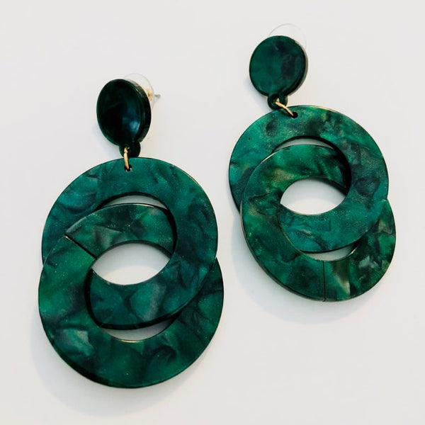 DIBORA ACRYLIC DOUBLE LOOP EARRINGS