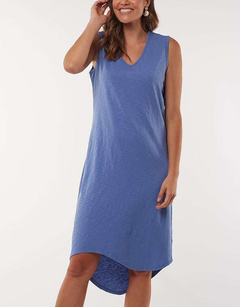 ELM ANNIKA MIDI DRESS - BLUE