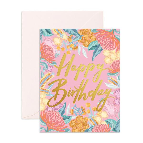 WILDFLOWER BIRTHDAY CARD