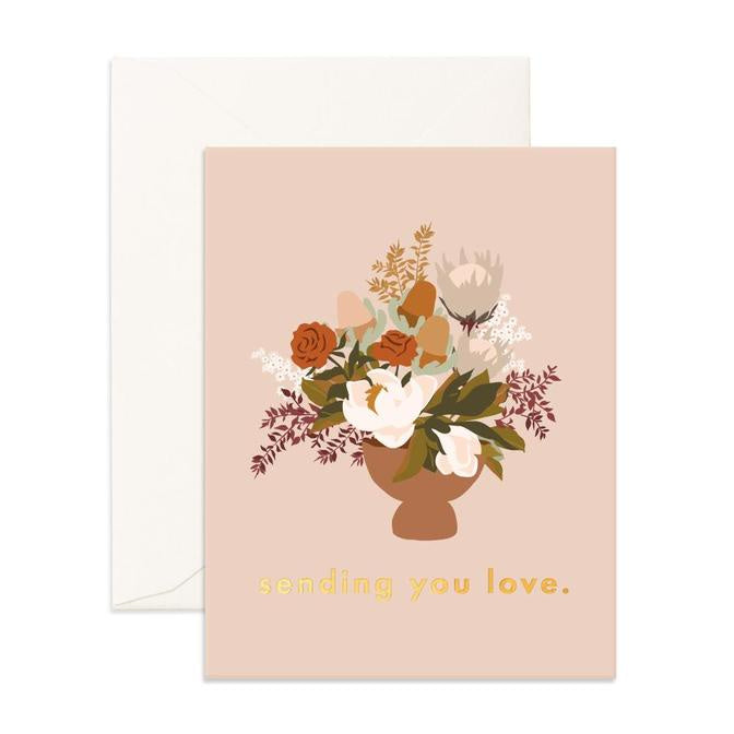 SENDING LOVE STILL LIFE GREETING CARD
