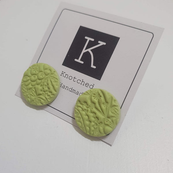 KNOTCHED HANDMADE EARINGS - G
