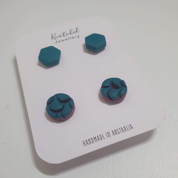 KNOTCHED HANDMADE EARRINGS - I
