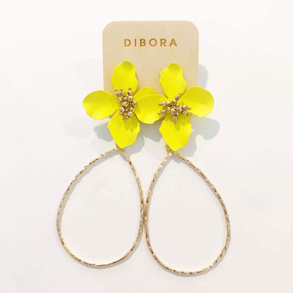 DIBORA FLOWER DANGLE EARRING