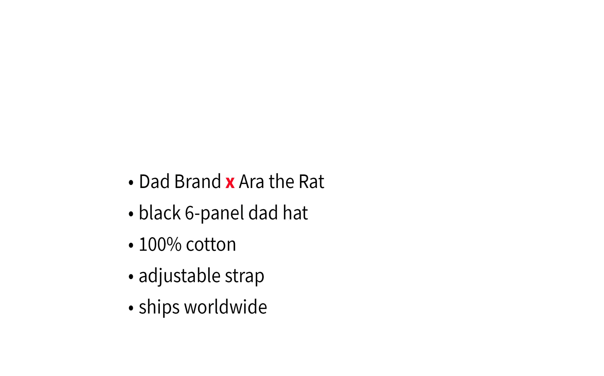 Dad Brand x Ara the Rat