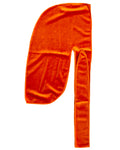 Orange Velvet Color Du Rag- Premium Quality-Wave Cap