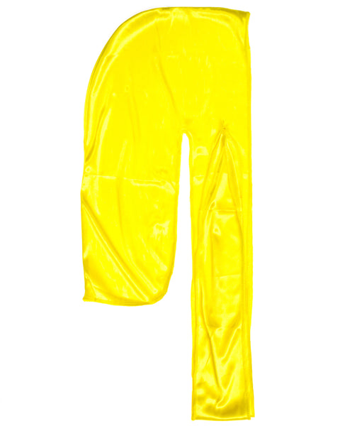 Yellow SIlky Du Rag- Premium Quality-Wave Cap