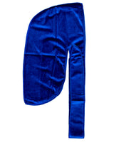 Blue Velvet Color Du Rag- Premium Quality-Wave Cap