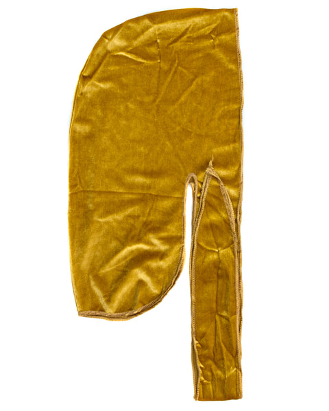 Gold Velvet Color Du Rag- Premium Quality-Wave Cap