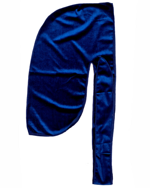 Navy Velvet Color Du Rag- Premium Quality-Wave Cap