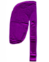 Purple Velvet Color Du Rag- Premium Quality-Wave Cap