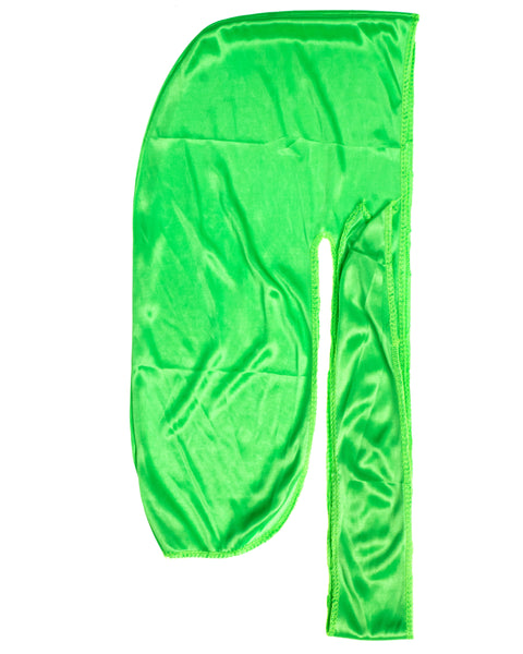 Lime Green SIlky Du Rag- Premium Quality-Wave Cap