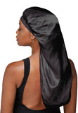 Satin Long Bonnet for Women with Braids, Dreadlocks, Wigs, or Natural Hair, Retains Moisture and Softness