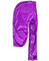 Purple SIlky Du Rag- Premium Quality-Wave Cap