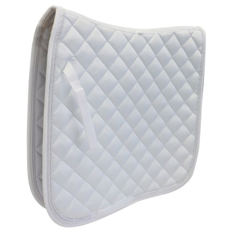 Showmaster Kwik-Dry Dressage Saddle Pad White