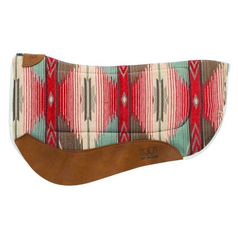 Weaver Barrel Contoured Saddle Pad - Red