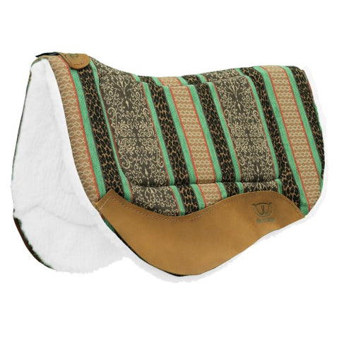 Weaver Barrel Contoured Saddle Pad - Green