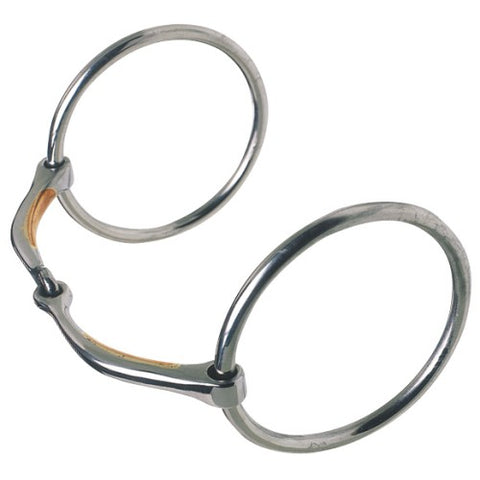 Oz Bitz Superfine Ring Snaffle w/Copper Inlaid Mouth