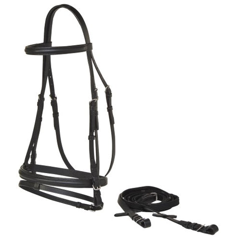 Landsborough Economy Eventing Bridle -Black