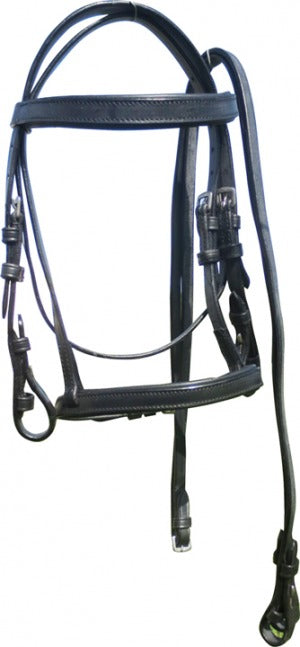 Miniature Bridle Flat Brow/nose Black