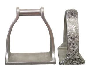 Engraved Wide Stockman stirrups