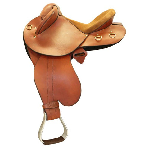"Sidney Hamilton Half Breed 14"" Youth Size Saddle"