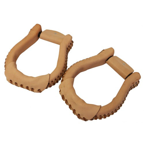 Rawhide Covered Oxbow Stirrups
