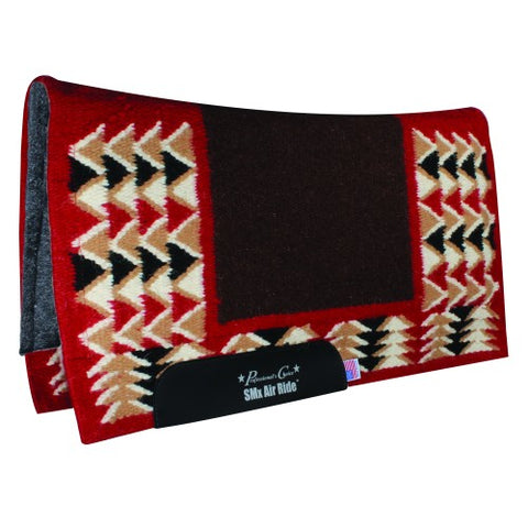 Pro Choice SMx Air Ride Barona Felt Lined Pad - Choc/Red