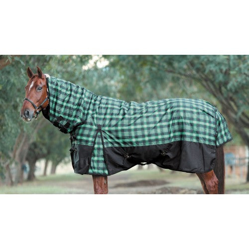 Huntington Club 1200D Plaid Combo - Turquoise/Black