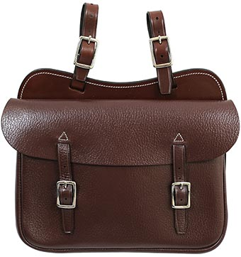 Leather SADDLE BAG - Large Square
