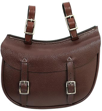Leather SADDLE BAG - Oval