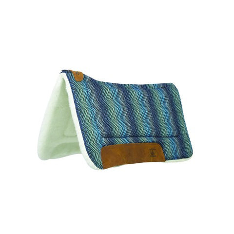 Weaver Contoured Saddle Pad - Blue H25