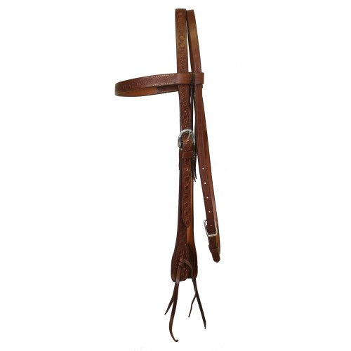 "Fort Worth 3/4"" Barbed Wire Headstall Tan"