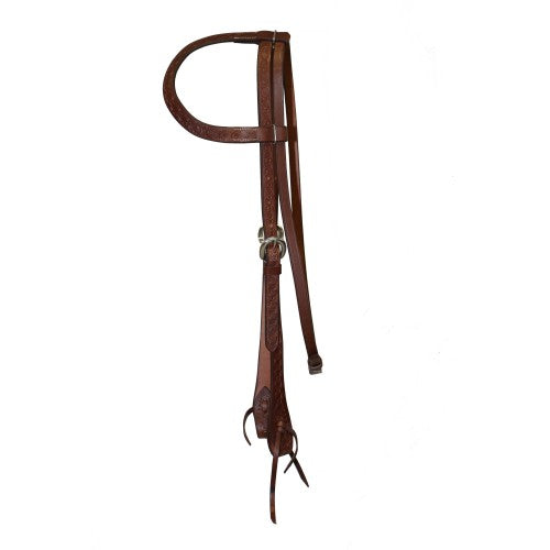 Fort Worth Barbed Wire One Ear Headstall Tan