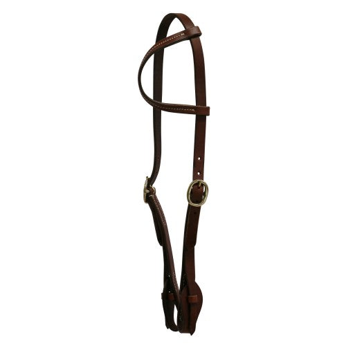 "Texas-Tack 5/8"" Pull-Up Sliding Ear Headstall Tan"