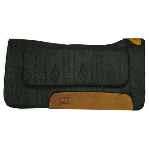 Weaver Contoured Saddle Pad Black H9