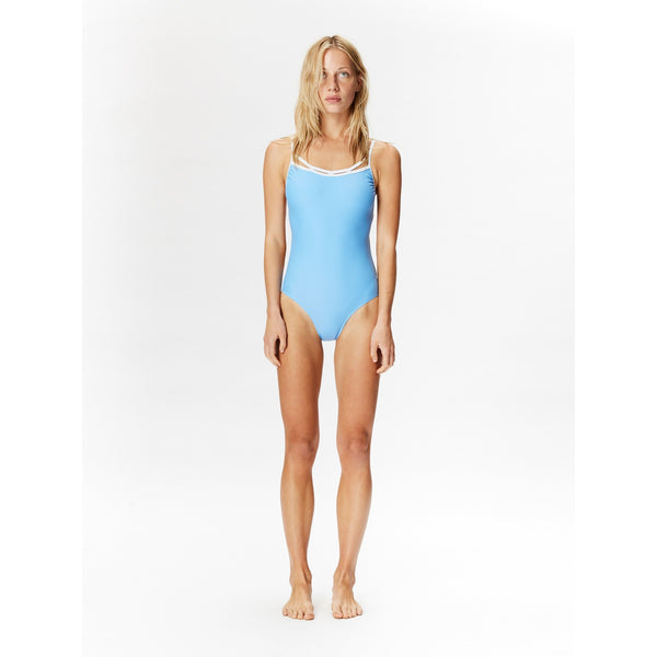 Bahia One Piece-Celeste/White | artisans.global