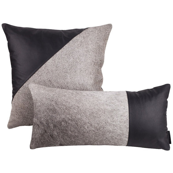 Cowhide Luxe Pillows-Pair - artisans.global