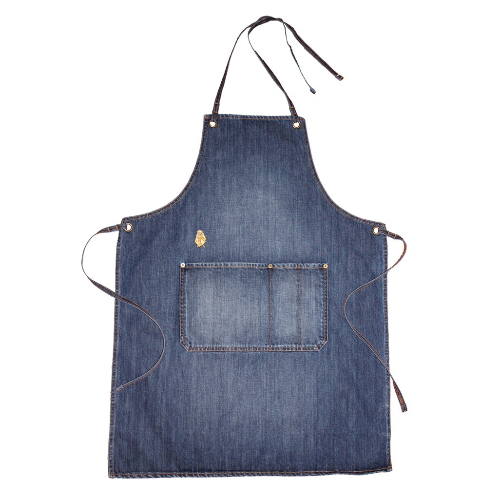 INDIGO VINTAGE WASH DENIM APRON
