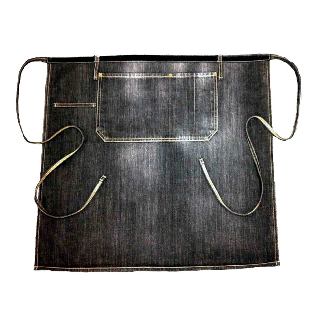 BLACK VINTAGE WASH DENIM WAIST APRON