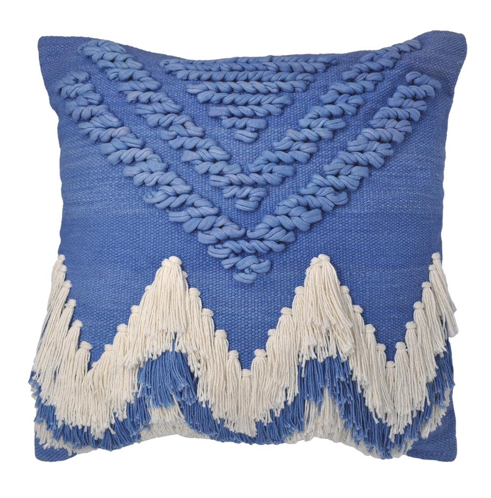 BLUEBELL FRINGE CUSHION COVER