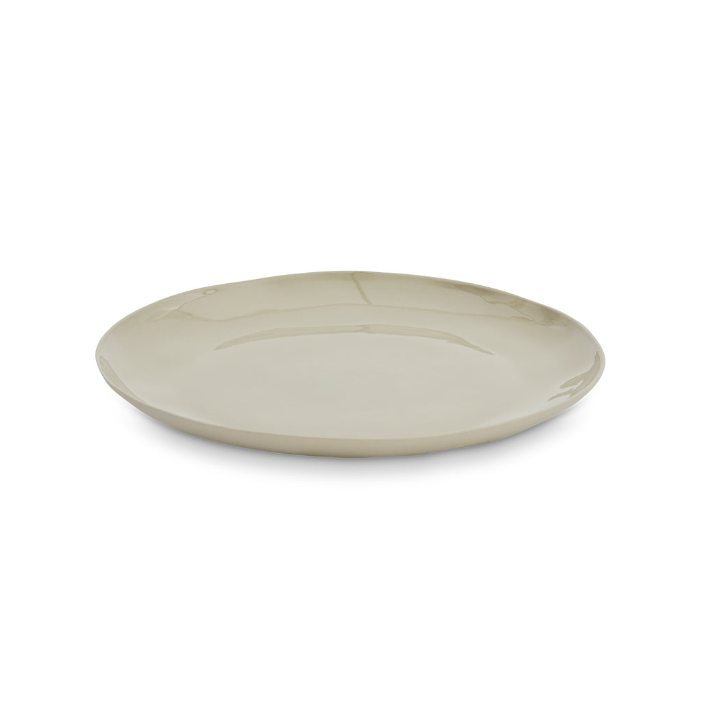 CERAMIC CLOUD ROUND PLATE L