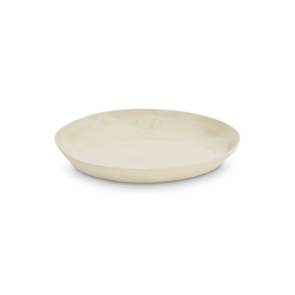 CERAMIC CLOUD ROUND PLATE M