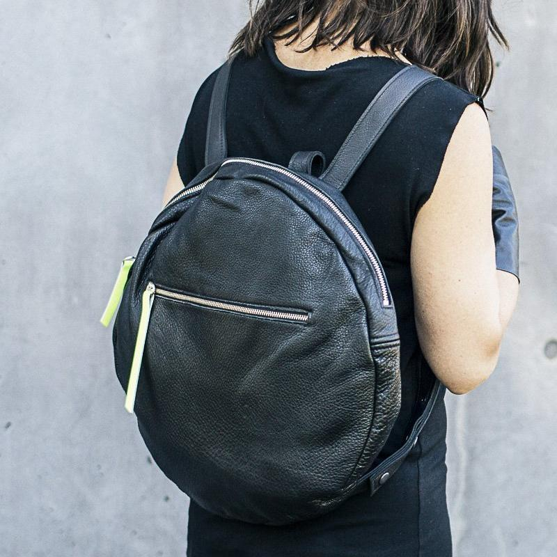 FULL MOON LEATHER BACKPACK