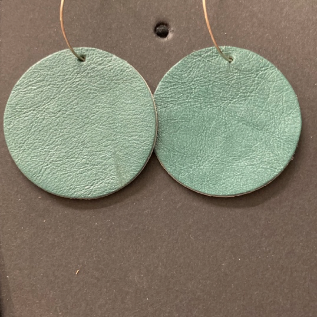 FULL MOON LEATHER EARRINGS