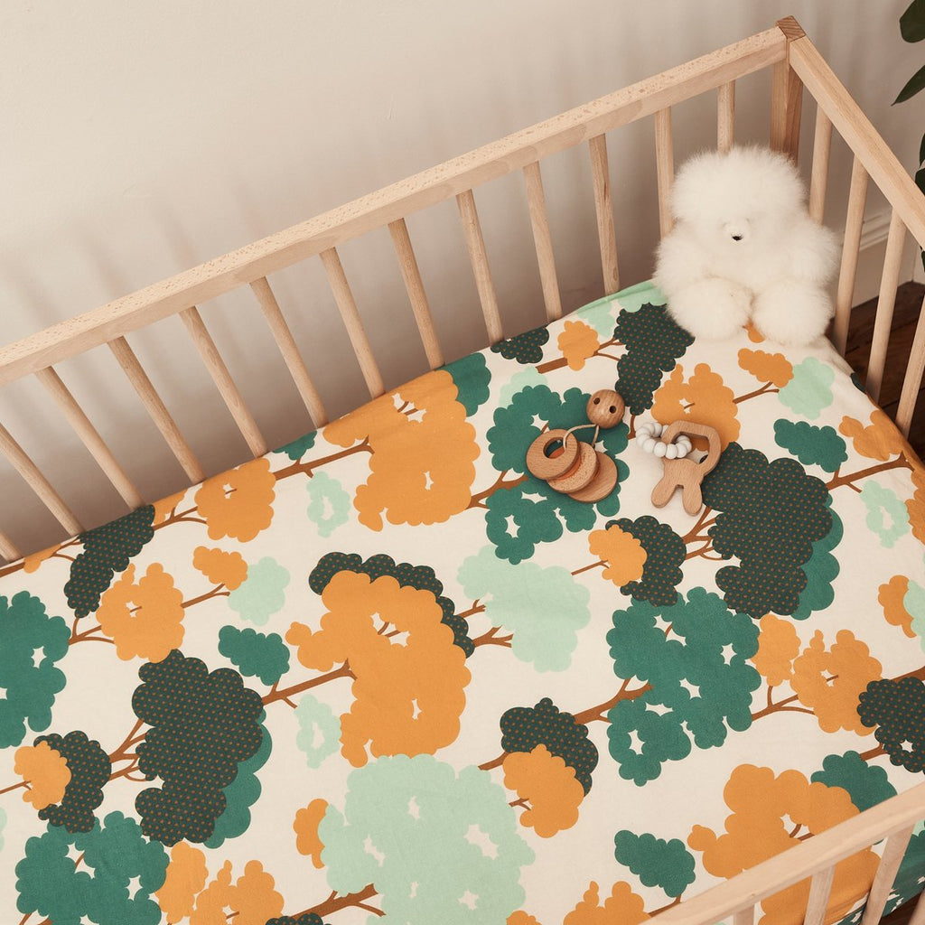 GUM TREES FITTED COT SHEET
