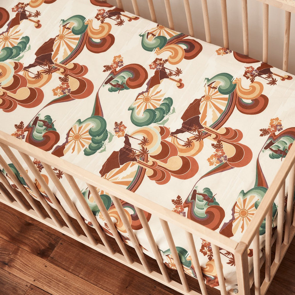 RAINBOW SLIDER FITTED COT SHEET