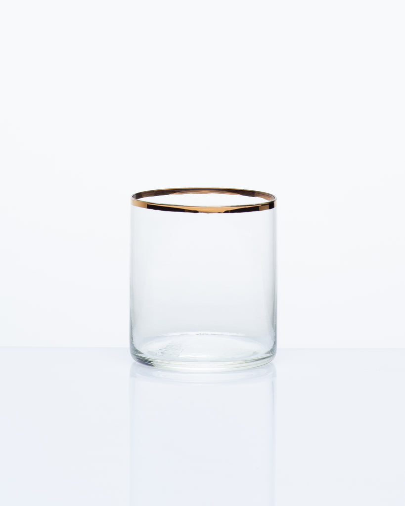 RIMMED WHISKEY GLASS