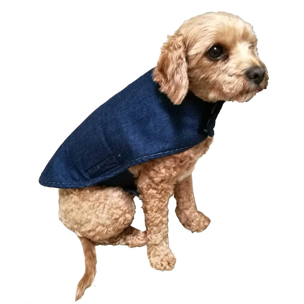 DENIM & SHERPA REVERSABLE DOG JACKET